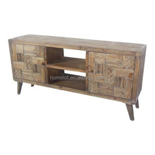 Vintage Solid Wood TV Stand Cabinet
