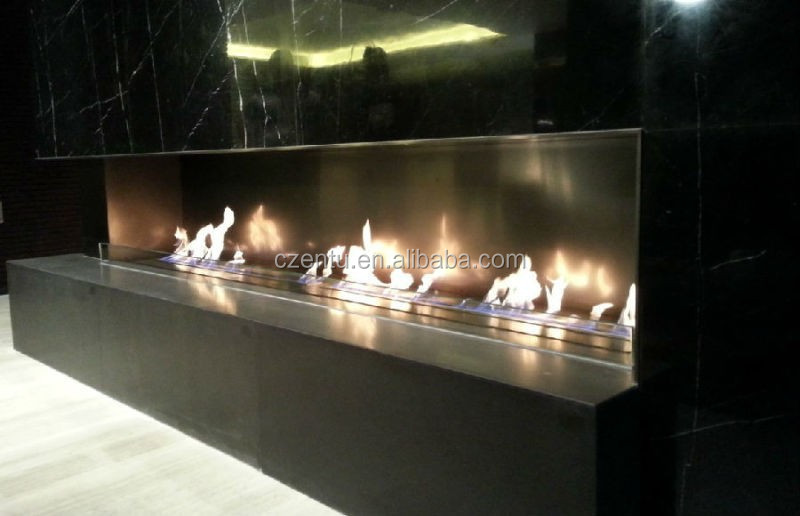 3 burners stainless steel bio ethanol fireplace