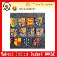16 x enamel heraldic shield badges by atlas editions;coat of arms(HH-emblem-022H)