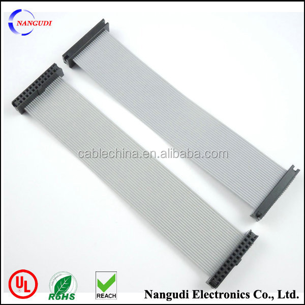 2.54mm Pitch 10Pin F/F IDC Connector Motherboard Flat Ribbon Cable