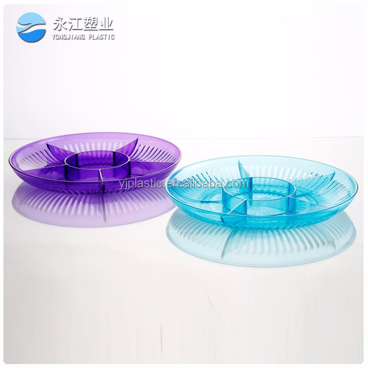 wholesale round metal food trays cake plate wooden serving tray with handles round wooden tray