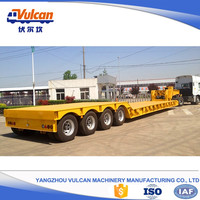 Heavy duty goosenenck 50 tons low bed truck trailer for sale