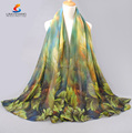 Wholesale New fashion forest leaf printing pattern shawl scarf