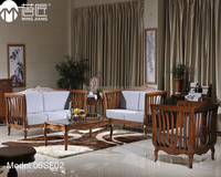 Model:06SF02 Luxury livingroom furniture bamboo with cushion livingroom sofa set