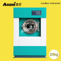 AOZHI Automatic 15kg 20kg 25kg commercial laundry machine washer extractor factory price