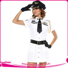 2015 New arrived women white captain uniform