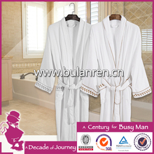 Trendy Design High Quality 100% Cotton Terry Hotel or Home Bathrobe