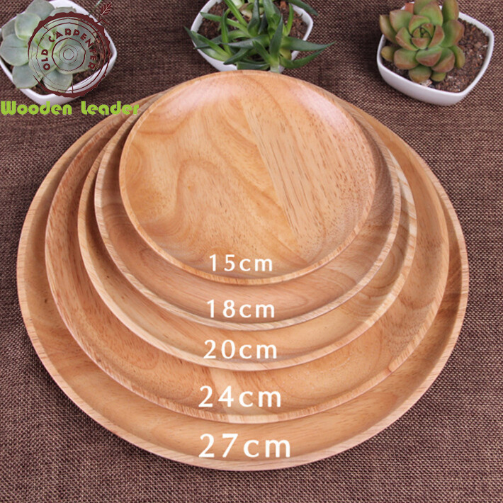 Factory Wholesale Hotel Custom Logo Wooden Dish Set Food Serving Wood Plate For Tableware