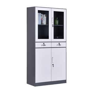 2 Door File Cupboard Storage Stainless Steel Filing Used Dividing Walls Office Semi Circle Whiskey Wine Cabinet