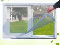 Fiberglass instant magnetic tape mesh screen window curtain