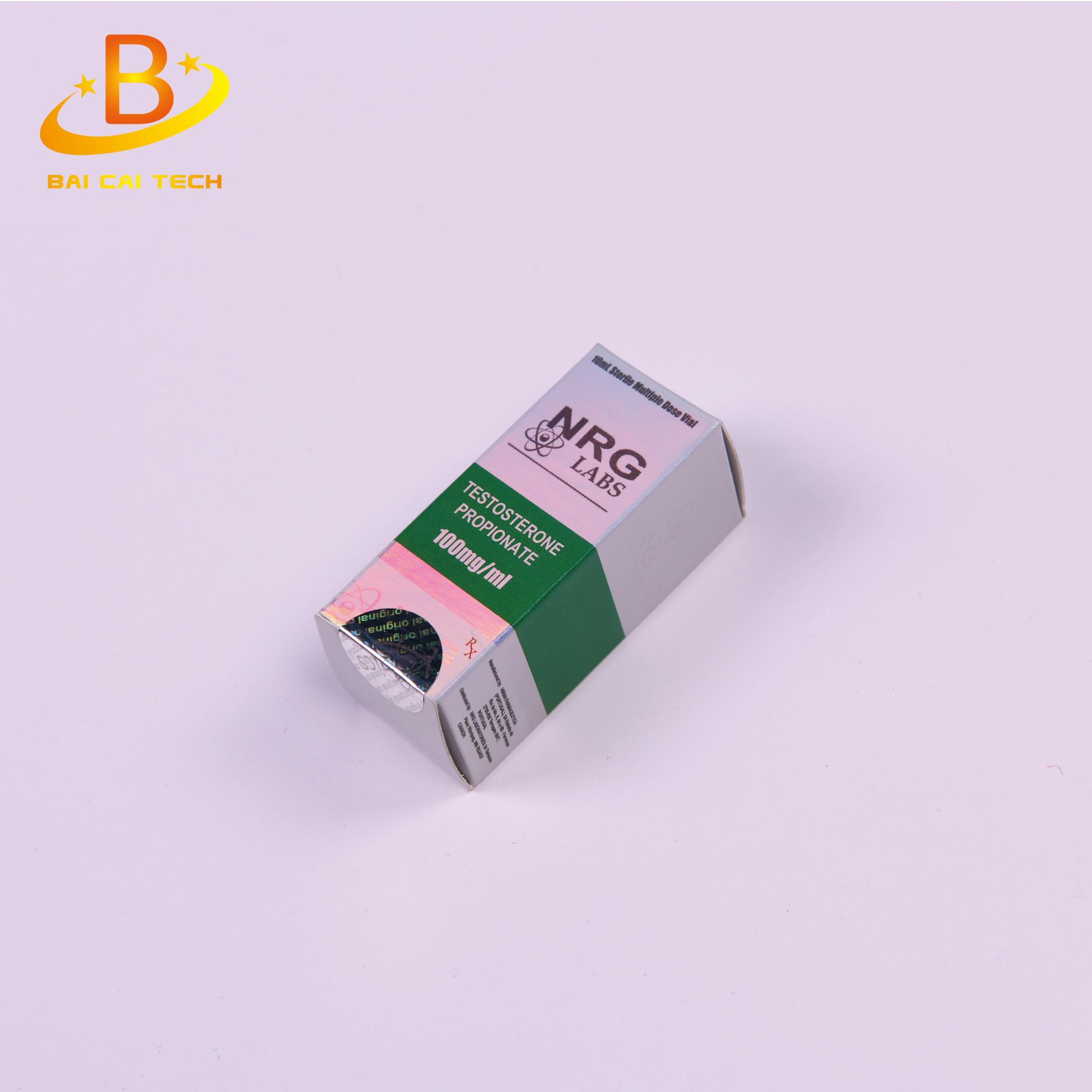Recycling free design pharmaceutical vial box hologram 10ml vial box