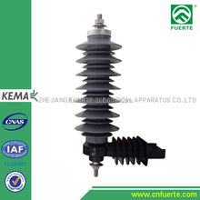 24kV polymer lightning arrester with terminal and cap