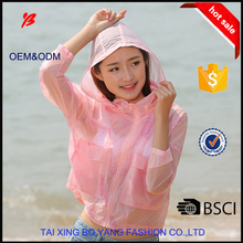 new style women summer sunproof transparent skin clothing
