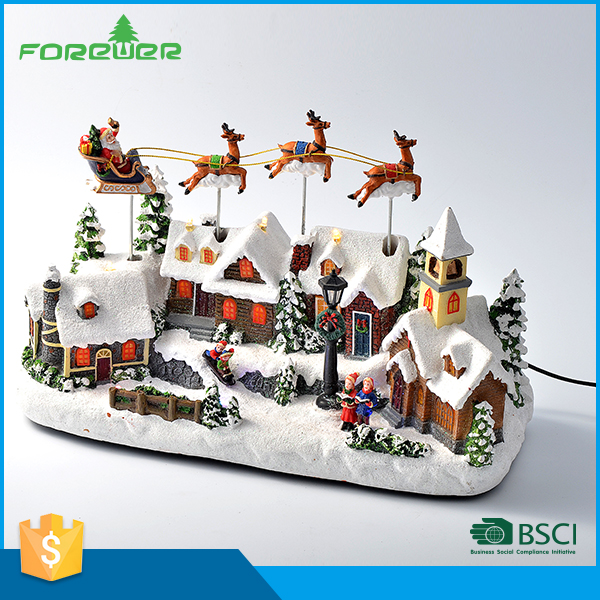 New Design LED Christmas Decoration Christmas polyresin reindeer