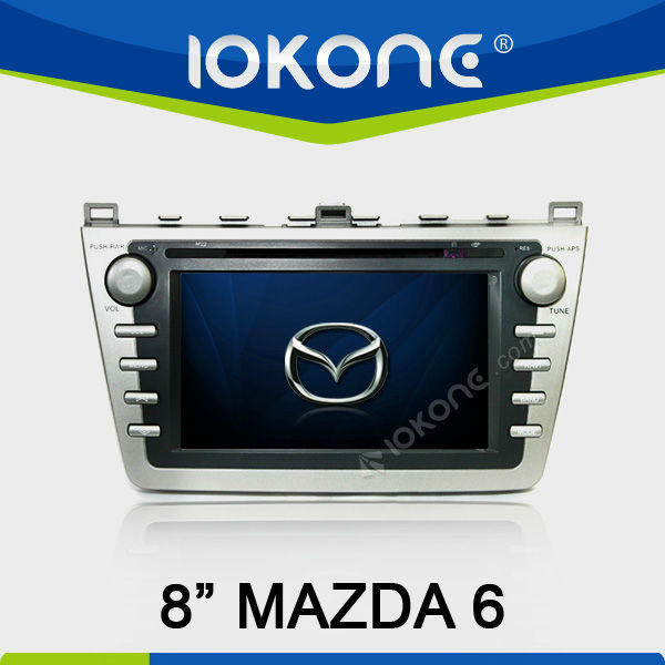 GPS navigation 8'' HD Touch screen Car DVD player for New Mazda 6 2008 after