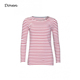 Custom women clothes ladies long sleeve stripe t shirts
