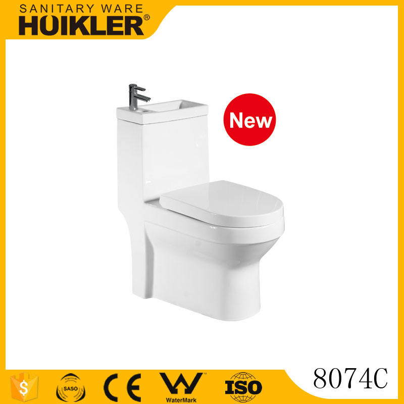 8074C Bathroom Washdown Toilet One Piece Toilet/Colored Toilet Bowl Price