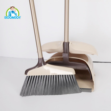 Boomjoy plastic designs printed broom and dustpan set