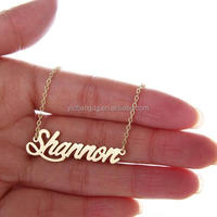 Silver Stainless Steel Pendant Chain Clavicular Personalized Name Necklace,Personalized Gold Plated Name Necklace