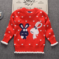 2018 Winter Heart Rabbit cartoon thicken knitting patterns for xxx bf baby kids clothes sweaters photo age 4,6 and 10