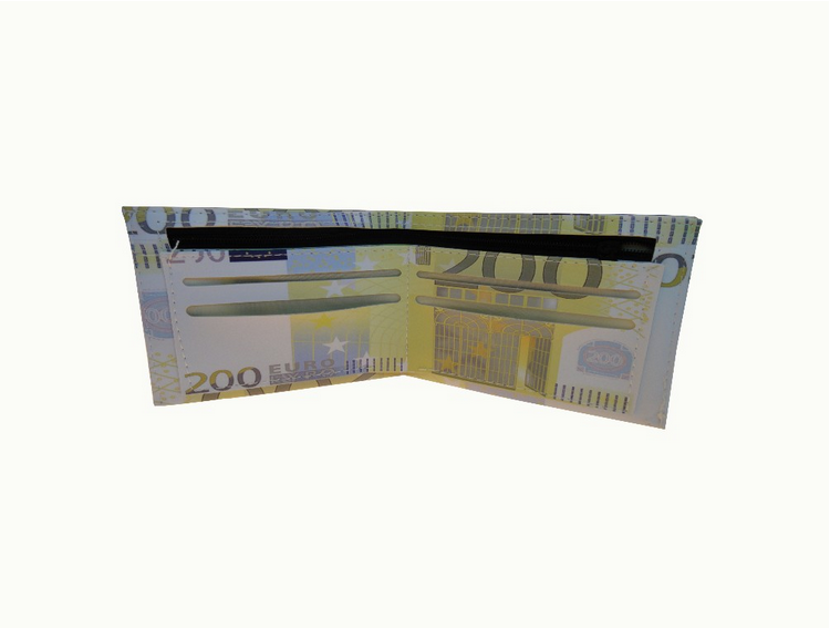 Dollar EURO rupee pu currency printing a4 paper wallet
