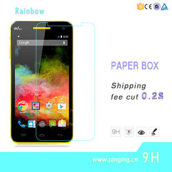 Wholesale Factory High Quality 9H 0.33mm 2.5D Tempered Glass Screen Protector For Wiko Rainbow