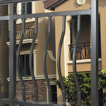 zinc steel safety handrails fence for USA