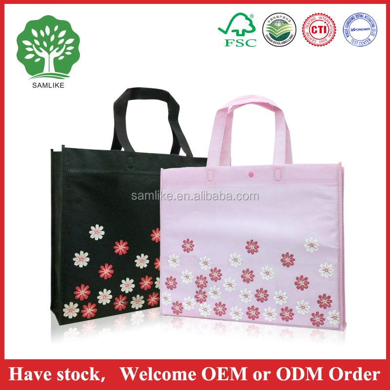 2016 hot sale Best Selling High Quality Cheap Laminated Non woven bags recyclable non woven bag with tree green