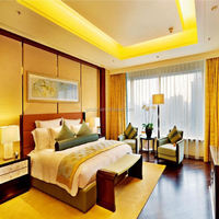 5 star luxury hotel room furniture, wooden king size bed