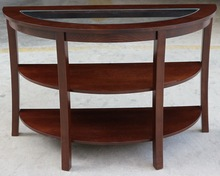 Japan Oval Solid Modern Design Glass Top Center Coffee Table Wooden
