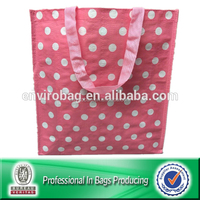 100% Recycle Polka Dot Design Gift Promotional Bag