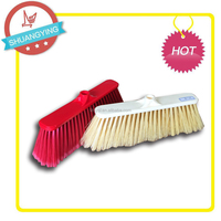 SY-3650 long handle broom with wooden stick or S/S stick eco-friendly plastic broom head