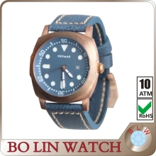 Advanced Embossed Dial Bronze Mens Watch, 9015 Automatic Japan Movt Bronze Watch, CuSn8 Material Case Bronze Watch