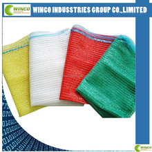 Raschel mesh bag for packing vegetables mesh shopping bags potato pp leno bags