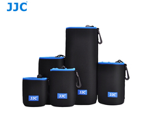 JJC 5 Sizes With Carabiner Soft Waterproof Neoprene Lens Pouch for Mirrorless DSLR Camera Lens