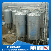 5000 tons grain storage silos with cone / flat bottom
