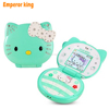 KUH T99 flip lovely cartoon cat small women kids girls diamond Bluetooth dialer cute mini cell mobile phone unlocked