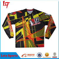 leather motorbike racing suit/pit crew motocross jersey/thermal protection sleeve motorcyle shirt