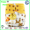 Happy Flute os coffee fiber pockets diaper New Print digital diaper prints Washable baby nappy 50pcs pack