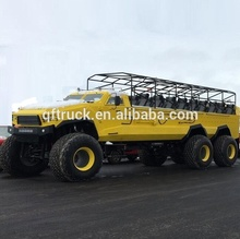 open top 6x6 Off Road desert sightseeing buses on hot sales