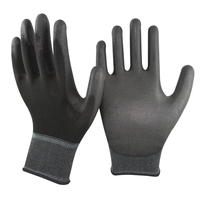 SRSAFETY hot selling PU coated safety gloves with 13 gauge knitted electrical safety glove