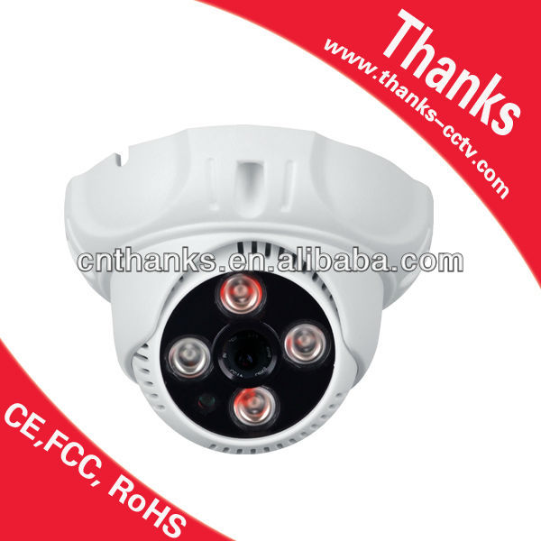 indoor dome camera CMOS 900TVL, nice design 4pcs array led