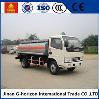 Dongfeng Duolika 4x2 small gasoline/petrol/oil/fuel tank truck, 8000L fuel tank truck for India