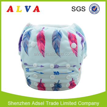 Alva New Pattern Waterproof Leak Guard Swim Diapers for Babies