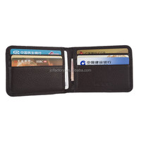hot sale small men card holder wallet insert trousers pocket
