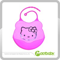 Soft Silicone Baby Bib, Easy to Rinse and Re-use Baby Bibs