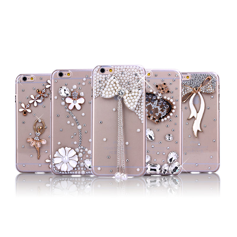 Hot selling bling bling diamond crystal phone case mobile cover for Iphone 5 5S, case for apple iphone 6, for iphone 6plus