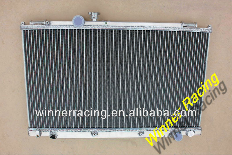 Hi-perf.56mm aluminum alloy radiator for TOYOTA MARK II/CHASER JZX100 1JZ-GTE MT 1996-2001