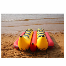 CE 4.1m water sport fabric PVC/Hypalon inflatable Drift boat Water Banana Yellow-Red made in China JSSL-8PD