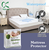 hypoallergenic Waterproof Bed Bug protector vinyl fabric zipper cotton bamboo crib quilted terry pad mattress cover